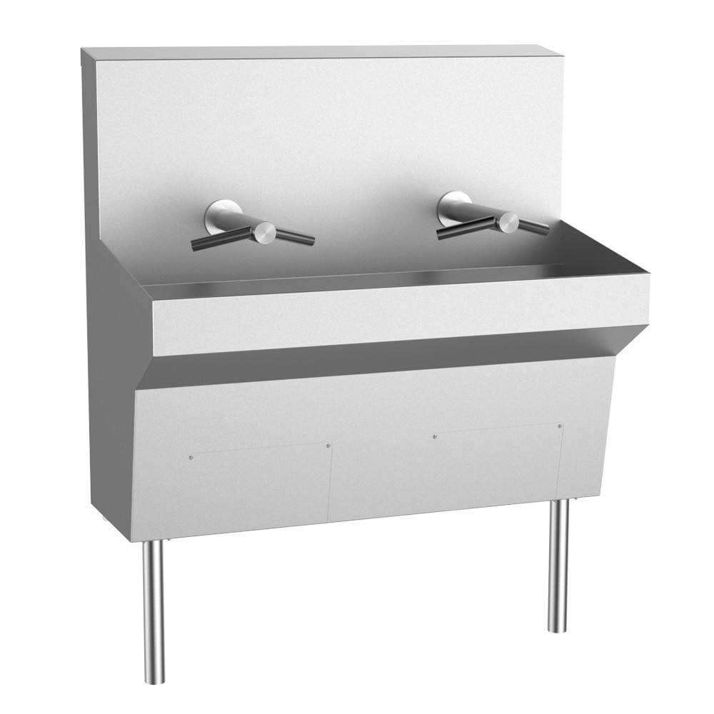 Trough Sink featuring Dyson Airblade Wash+Dry Hand Dryer